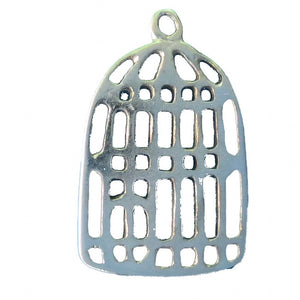 Metal 30mm birdcage nickel 20pcs