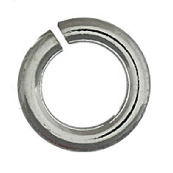 Sterling sil 10x2mm ring open 2pcs