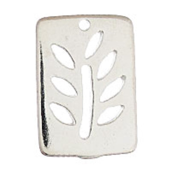 metal 19x14mm rectangle tree NF SIL 4pcs