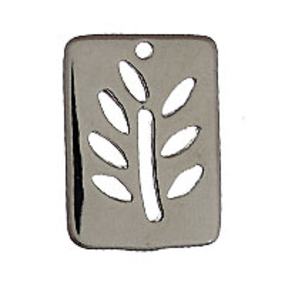 metal 19x14mm rectangle tree NF nkl 4p