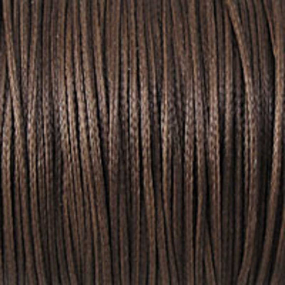 Waxed 1mm cord chocolate 40mtrs