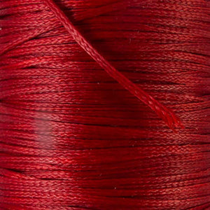Waxed 1mm cord red 40metres