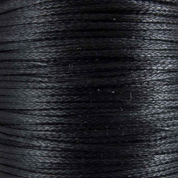 Waxed 1mm cord black 40mtrs