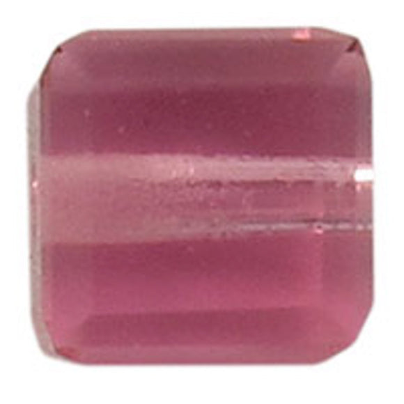 Swarovski 4mm 5601 cube ROSE 10pc