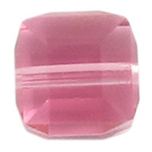 Swarovski 6mm 5601 cube rose 4pc