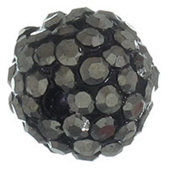 Diamante 10mm rnd hematite 2pcs