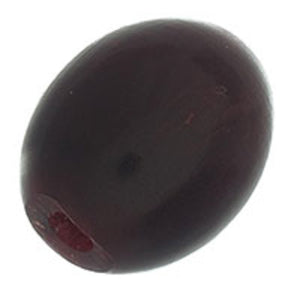 Horn 20x15mm oval smooth cherry 6pcs