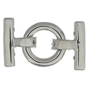 Metal 18mm rnd 3row clasp NF nkl 2pcs