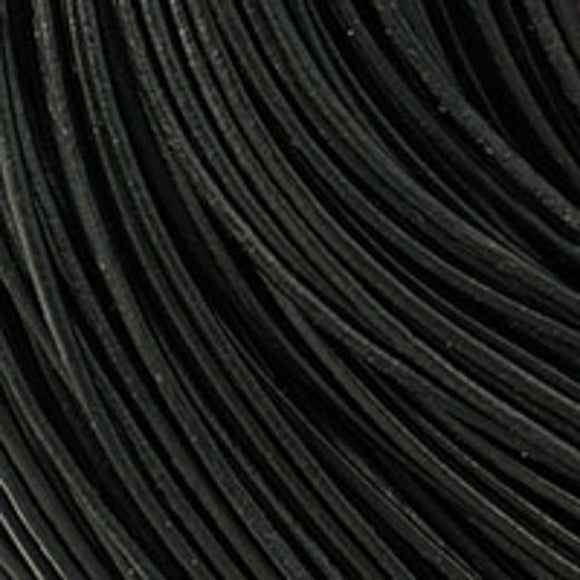 Leather 1mm round China black 100m