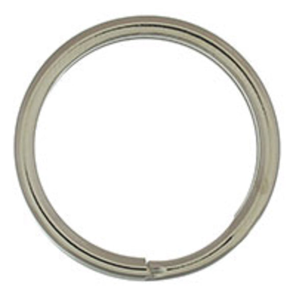 Metal 20mm rnd split ring nkl 12pcs