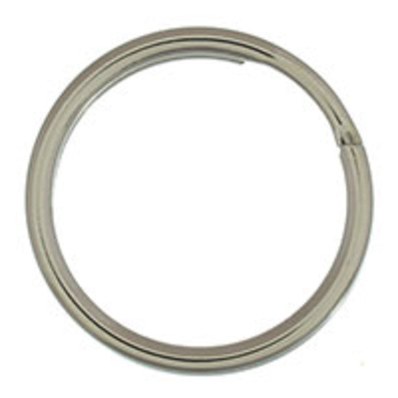 Metal 20mm rnd split ring nkl 50pcs