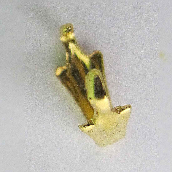 Metal 6.5mm bail 2 prongs gold 20psc