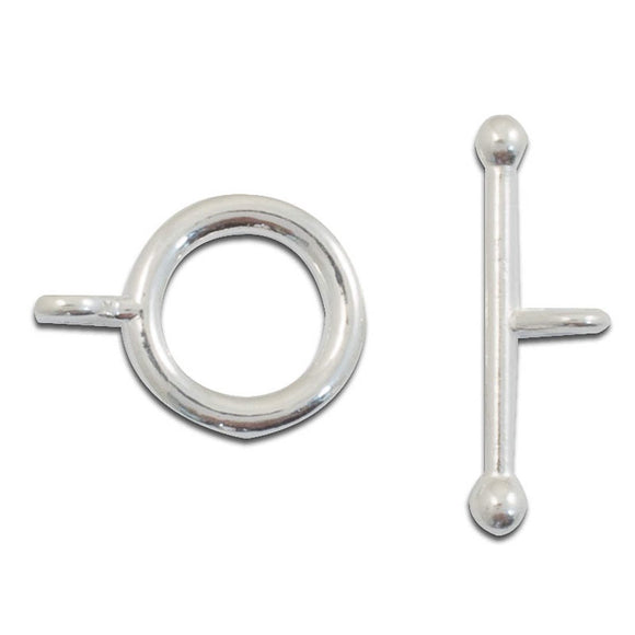Metal 14mm rnd FOB HIGH Q sil 10sets