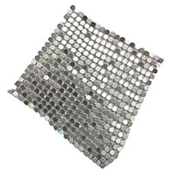 Metal 60mm glomesh square hematite 4pcs