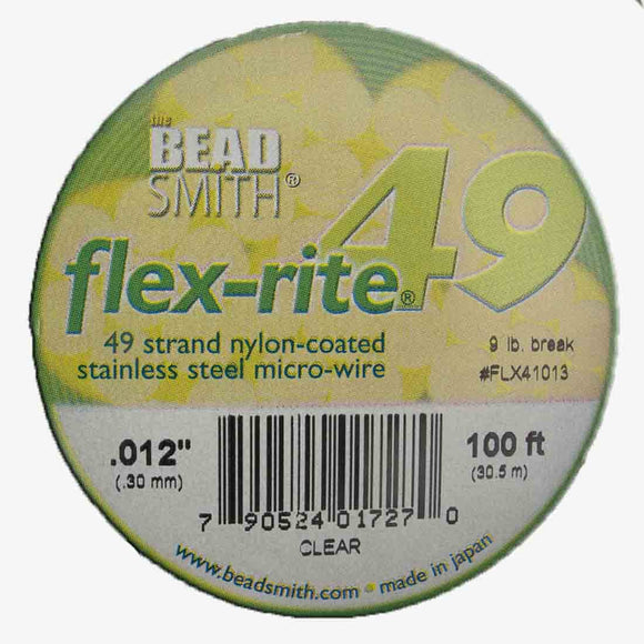 Flexrite .30mm 49str 9lb clear 30.5m