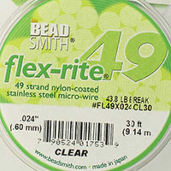 Flexrite .60mm 49str 43.8lb clear 9.14m