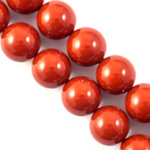 Swarovski 8mm 5810 red coral 50pcs
