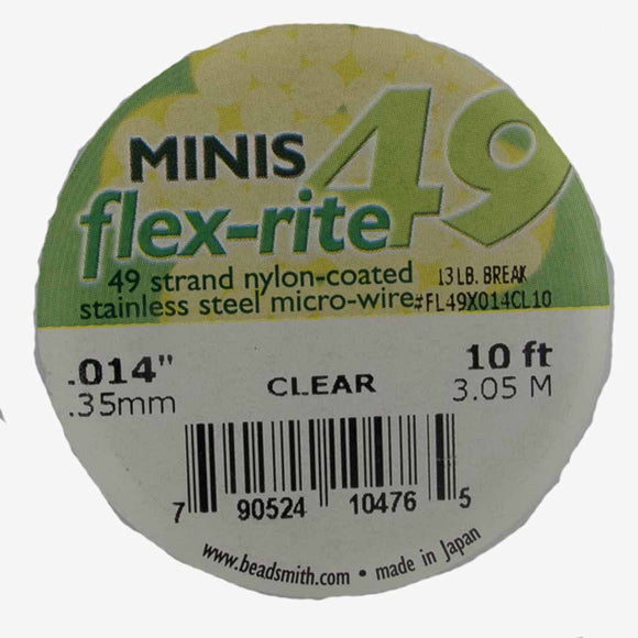 Flexrite .35mm 49str 13lb clear 3.05m