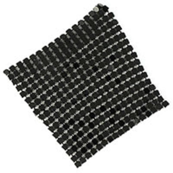 Metal 60mm glomesh square black 4pcs