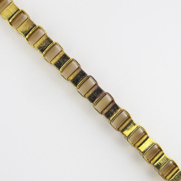 Metal chain 8mm box chain gold 1m