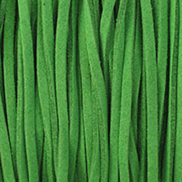 Faux suede 3mm flat spearmint 80 metres
