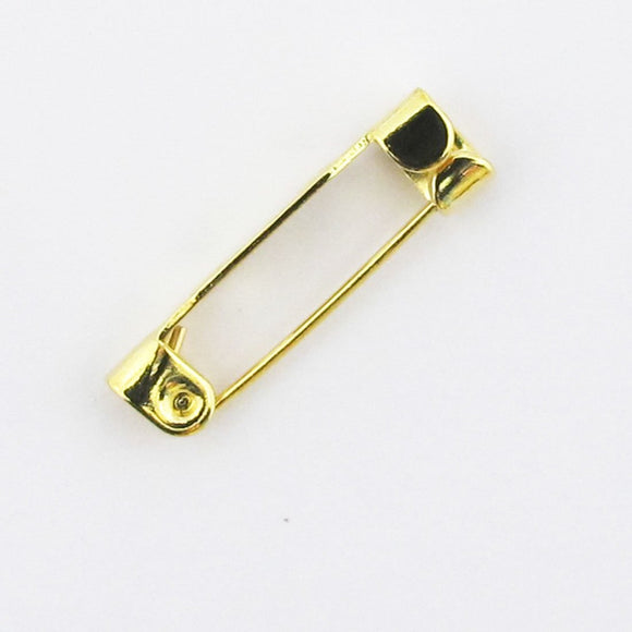 metal 19mm brooch back gold 12pcs