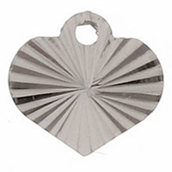 Metal 7mm heart sunrays silver 100pcs