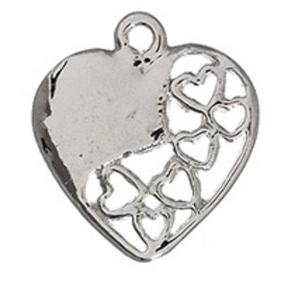Metal 20mm heart 6cutouts NF sil 4p