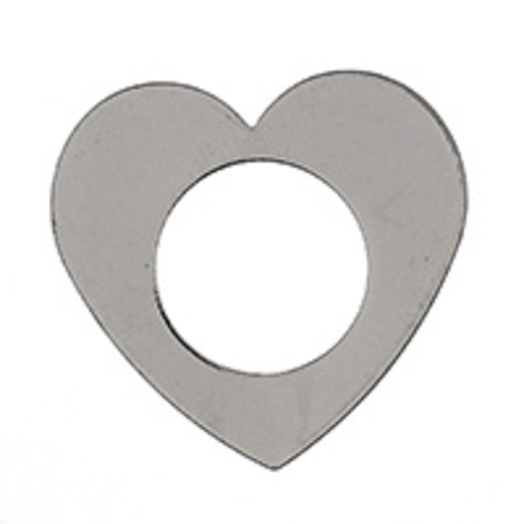 Metal 22mm heart donut NF NKL 10pcs
