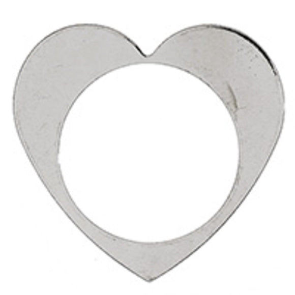 Metal 26mm heart donut NF NKL 6pcs