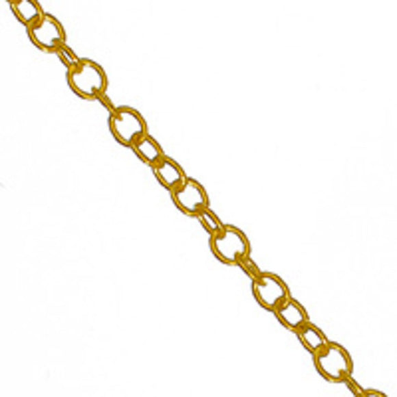 Metal chain 2.3x1.9mm oval gold 2mt