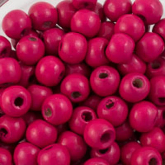 Wood 8mm rnd cerise 20g/130p