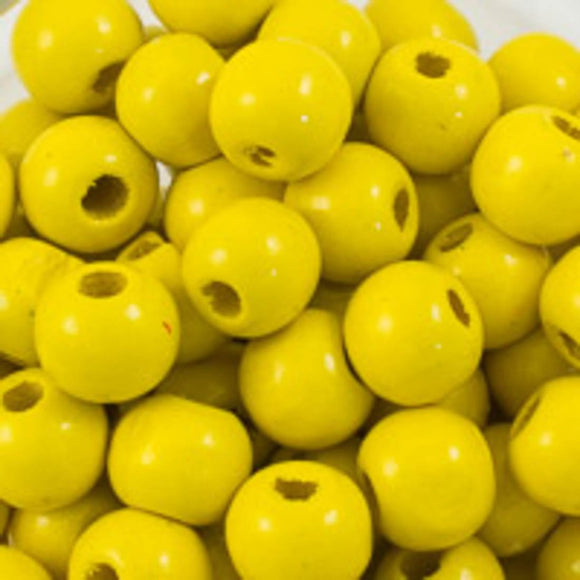 Wood 10mm rnd yellow 30g/92p