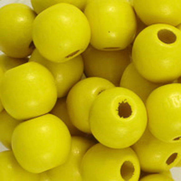Wood 12mm rnd yellow 40g/75p