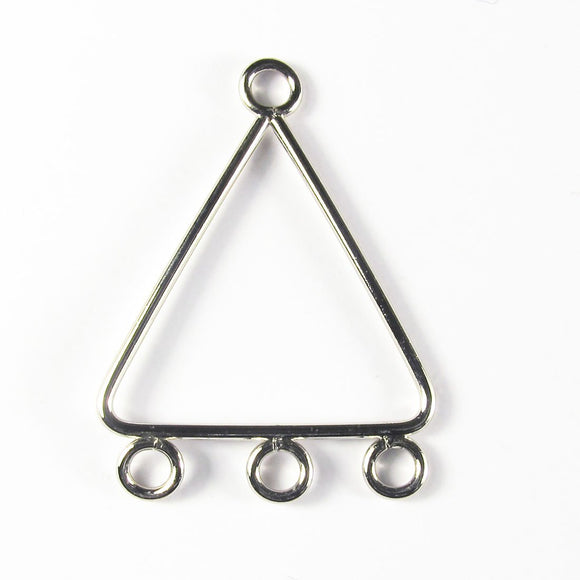 Metal 28mm triangle 3loop nickel 4pcs