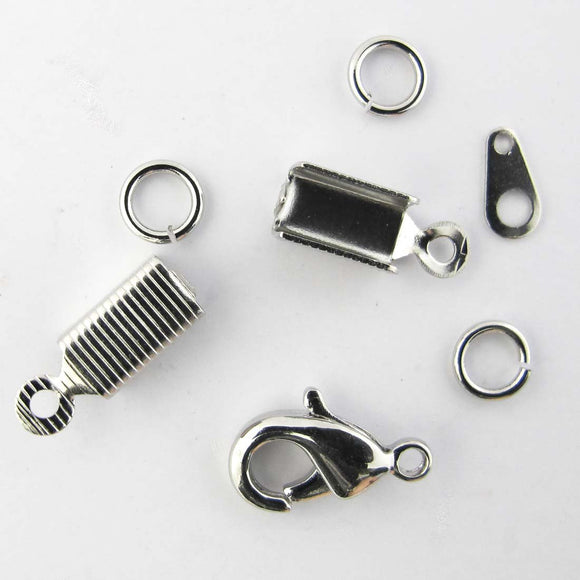 Metal 13mm clasp j rings tags ends nk