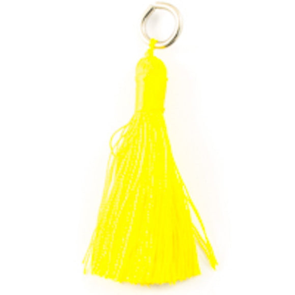Thread 60mm Tassel yellow 4pcs