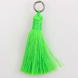 Thread 60mm Tassel lime 4pcs