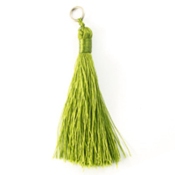 Thread 85mm Tassel olive 2 pcs