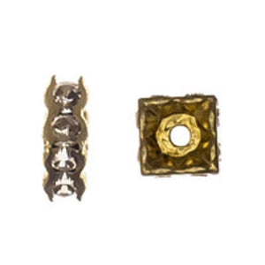 Swarovski 4mm 77604 gold/clr 4pcs