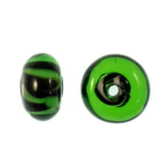 Cz 6x10mm h/made green/black 2pc
