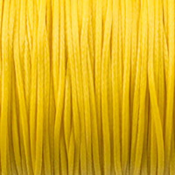 Waxed 1mm cord yellow 40 metres