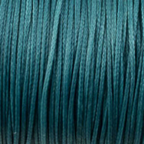 Waxed 1mm cord teal 40mtrs