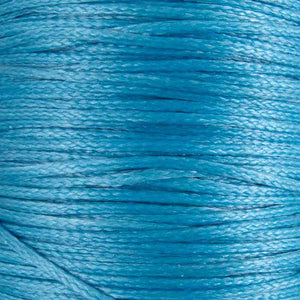 Waxed 1mm cord sky blue 40mtrs
