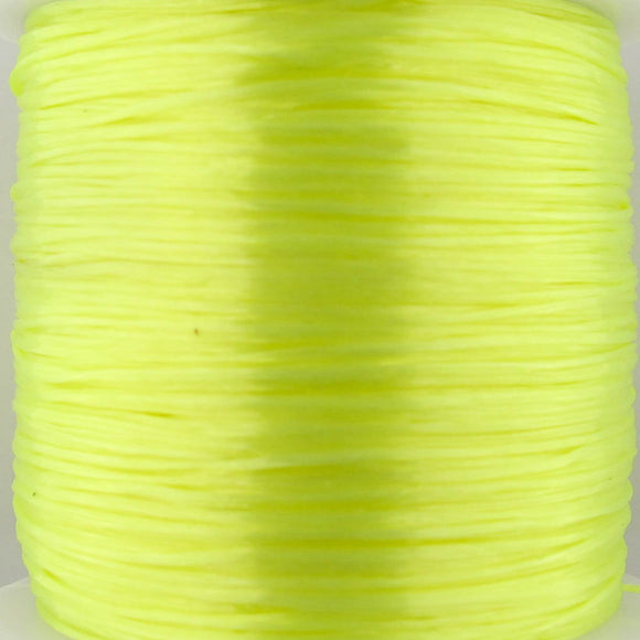 Elastic .5mm (S&S) neon yellow 50+metres