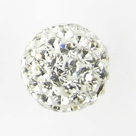 Diamante 8mm rnd clear HIGH QUALITY 2p
