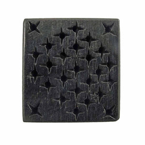 Wood 28mm flat flat stars EBONY black 2p