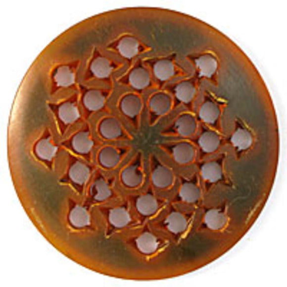 horn 50x5 disc flower amber 2pc