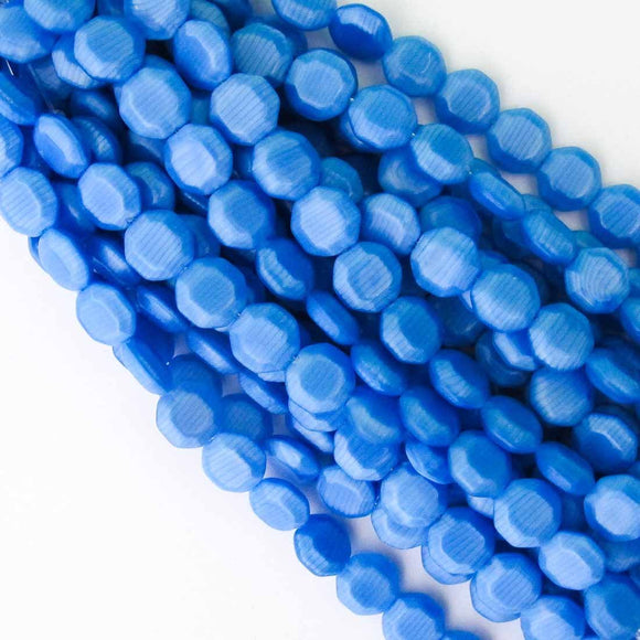 Cz 12mm octag stripped blue 15pcs