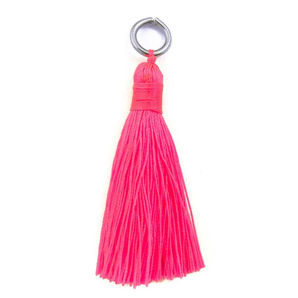 Thread 60mm Tassel neon Pink 4pcs